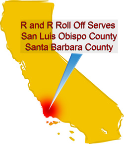 r and r roll off recycling serves san luis obispo and santa barbara county california with dumpster and roll off bin recycling