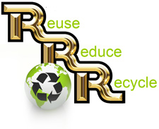 r&r roll off dumpster recycling demolition construction debris logo